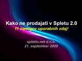Spletna prodaja in Splet 2.0